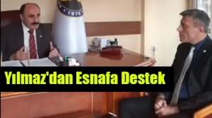 Yenilik Partisi Genel Başkanı Öztürk Yılmaz , Ankara Kahveciler Esnaf Odası Başkanı İsa Güven'i makamında ziyaret etti
