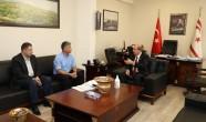Başbakan Ersin Tatar bugün Başbakanlık'ta Sivil Savunma Teşkilatı Başkanı Necmi Karakoç ile görüştü.