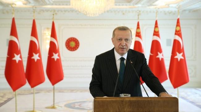 """Cumhurbaşkanı Erdoğan: """"Amacımız, işçilerimizin kıdem tazminatı haklarını birilerinin insafına bırakmadan, kalıcı ve garantili bir sisteme bağlamaktır"""""""
