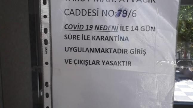 Kayseri'de bir daire karantina altına alındı