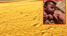 Suudi Arabistanlı vatandaş, bebeğine kum yedirdi