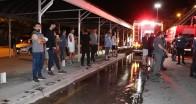 Ankara'da kundaklandığı iddia edilen dükkan alev alev yandı