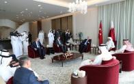 """Bakan Albayrak: """"Katar ziyaretinde siyasi ve ekonomik ilişkilerin geliştirilmesi için verimli görüşmeler gerçekleştirdik"""""""
