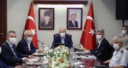 Bakan Soylu'nun başkanlığındaki güvenlik toplantısı sona erdi