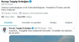 """Cumhurbaşkanı Erdoğan'dan """"Ayasofya"""" paylaşımı"""