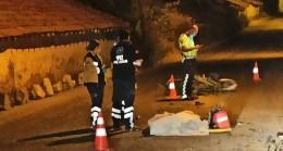 Başkent'te virajı alamayan motosiklet sürücüsü duvara çarptı: 1 ölü