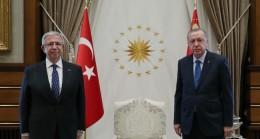 Cumhurbaşkanı Erdoğan, Mansur Yavaş'ı kabul etti