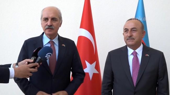 Dışişleri Bakanı Mevlüt Çavuşoğlu ve AK Parti Genel Başkan Yardımcısı Numan Kurtulmuş'tan, Azerbaycan Büyükelçiliği'ne ziyaret