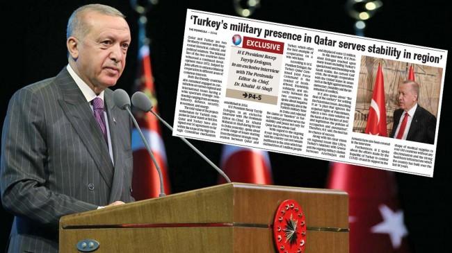 """Cumhurbaşkanı Erdoğan: """"The Peninsula"""" verdiği mülakat"""