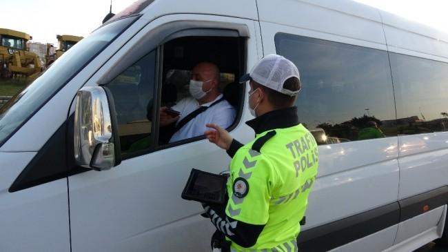 İstanbul Maltepe'de servis araçları denetlendi