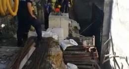 Kadıköy'de bir inşaatta iskele çöktü; 3 işçi yaralandı