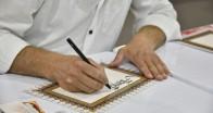 Kaligrafi sanatını öğrenip kendi işlerini kuruyorlar
