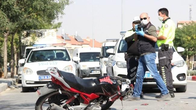 Midibüsle çarpışan motosikletin sürücüsü yaşam mücadelesi kaybetti