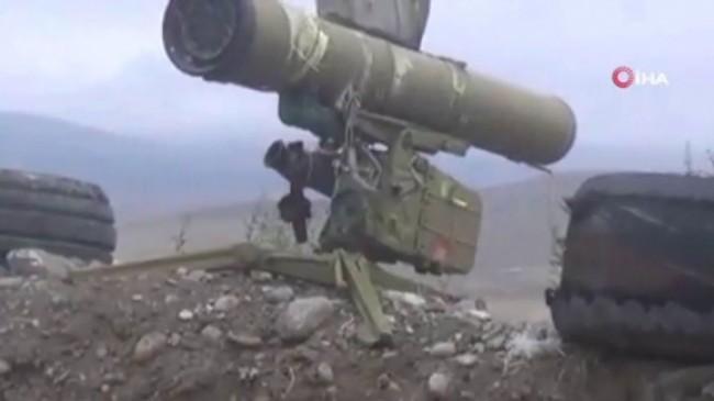 Ermenistan ordusuna ait çok sayıda askeri teçhizat imha edildi