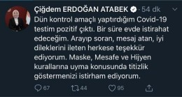 AK Parti Sakarya Milletvekili Atabek'in korona virüs testi pozitif çıktı