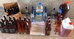 Antalya'da sahte içki operasyonu:14 gözaltı