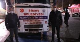 İzmirli depremzedelere Simav'dan yardım