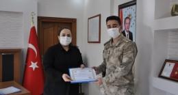 Kaymakam Demir'den jandarma personellerine başarı belgesi