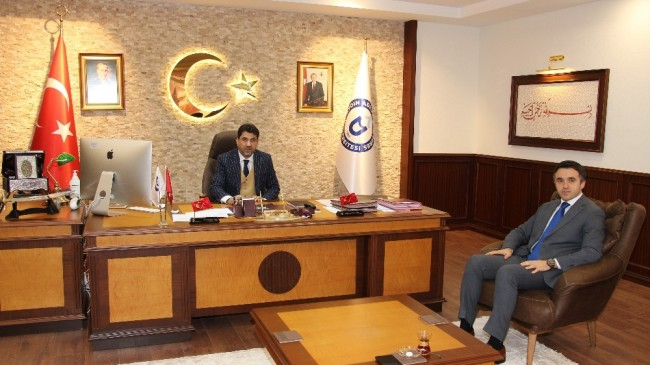 Sosyal Hizmetler İl Müdürü Turan, Rektör Aldemir'i ziyaret etti