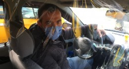 Taksiciden artan virüs vakalarına karşı brandalı önlem