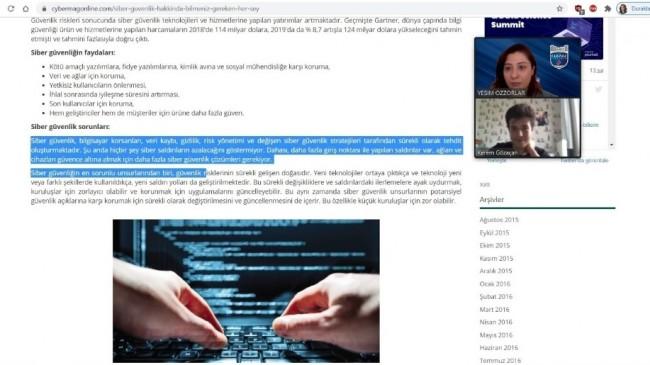 Türkiye siber zeka bilgi yarışması