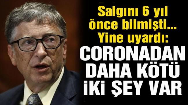 Bill Gates uyardı: Coronadan daha kötü iki şey var