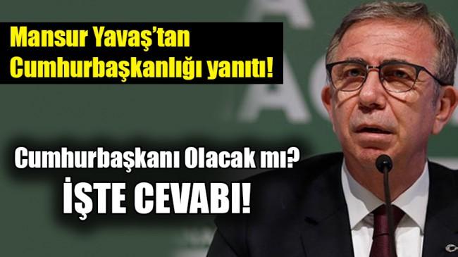 Mansur Yavaş Cumhurbaşkanı Olacak mı?