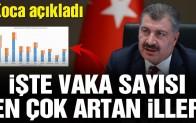 Bakan Fahrettin Koca vaka sayısı en çok artan illeri açıkladı