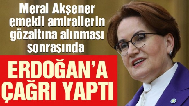 Meral Akşener'den Erdoğan'a çağrı