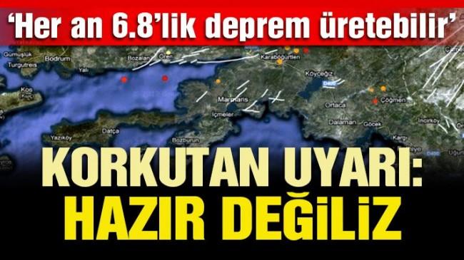Her an 6.8 büyüklüğünde deprem üretebilir