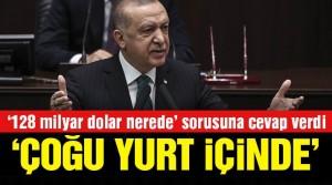 Cumhurbaşkanı Erdoğan, '128 milyar dolar nerede' sorusunu cevapladı