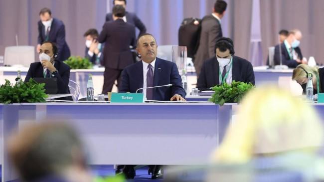 Çavuşoğlu, Suriye konulu kısıtlı katılımlı Bakanlar Toplantısı'na katıldı