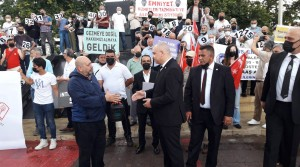 """Vatan ve Hürriyet Partisi ile Polis emeklileri basın açıklaması """"polislerimize sahip çıkın."""""""