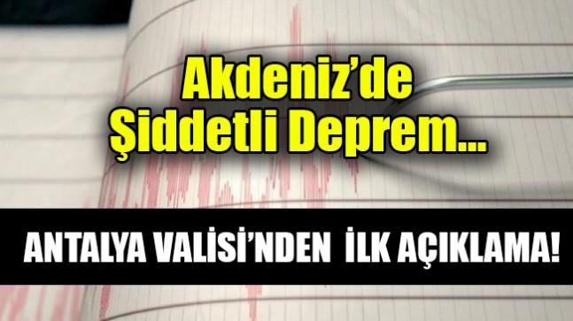 Akdeniz'de  Şiddetli Deprem…