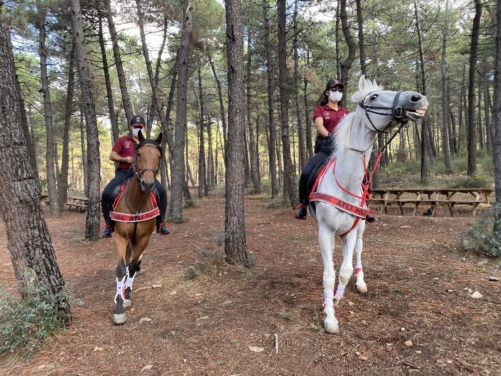 Yağmur sonrası Aydos Ormanı'nda atlı polislerden mangal denetimi » ICN News  Intercontinental News